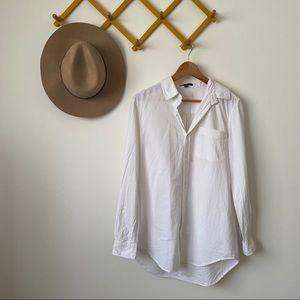 Velvet Heart | cotton white button up shirt